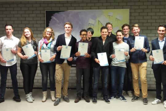 Anglia certificates 2015 at Philips van Horne