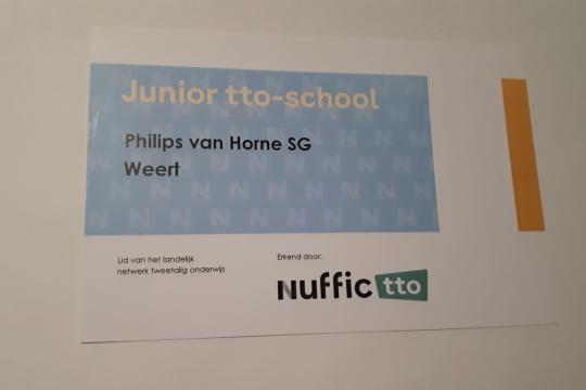 TTO Junior Certificate for Philips van Horne