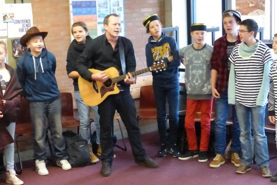 Lyrical language workshops at Philips van Horne for H1A, H2A and H3A.