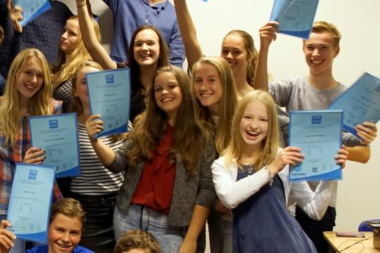 Anglia Certificates at College 2015
